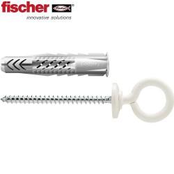 Kołek uniwersalny FISCHER UX z kołnierzem i hakiem  oczkowym (nylon)